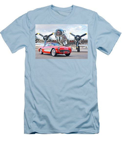1957 Chevrolet Corvette Men's T-Shirt (Slim Fit) by Jill Reger