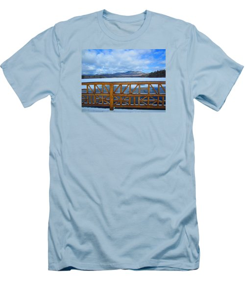 Winter At Chocorua Lake  Men's T-Shirt (Athletic Fit)