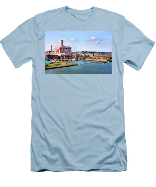 Men's T-Shirt (Slim Fit) featuring the photograph Boston Harbor by Kristin Elmquist