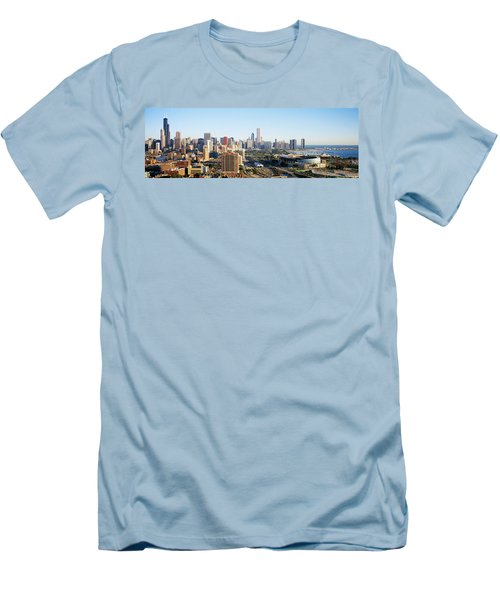 Chicago, Illinois, Usa Men's T-Shirt (Slim Fit) by Panoramic Images