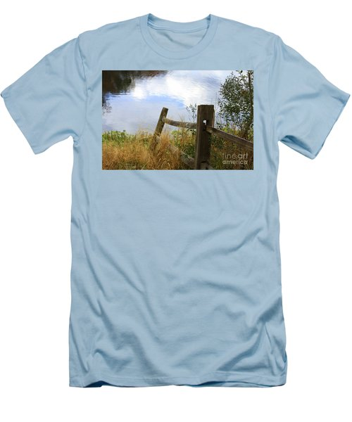 Cloud Reflections Men's T-Shirt (Slim Fit) by Deborah Benoit