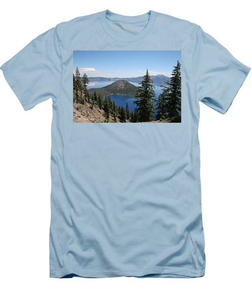 Crater Lake Oregon Men's T-Shirt (Athletic Fit)