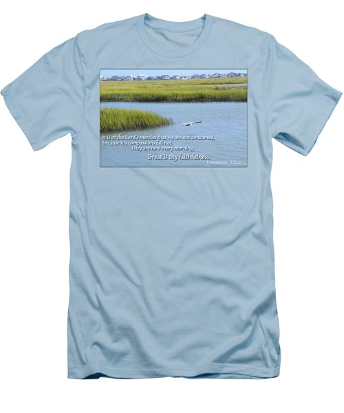 Men's T-Shirt (Slim Fit) featuring the photograph Great Is Thy Faithfulness by Larry Bishop