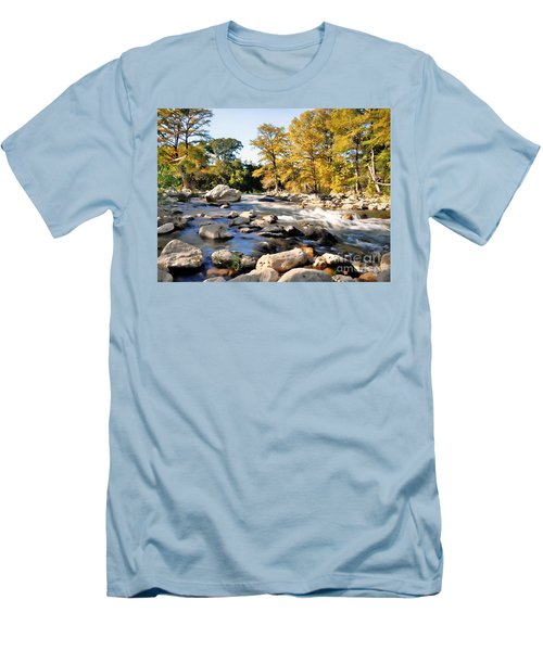 Men's T-Shirt (Slim Fit) featuring the photograph Guadalupe River  by Savannah Gibbs
