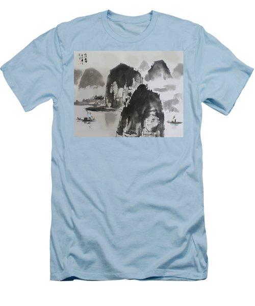 Men's T-Shirt (Slim Fit) featuring the photograph Li River by Yufeng Wang
