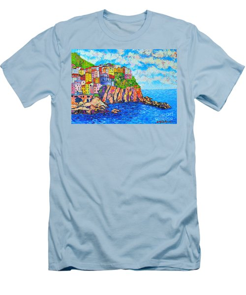 Manarola Cinque Terre Italy  Men's T-Shirt (Athletic Fit)