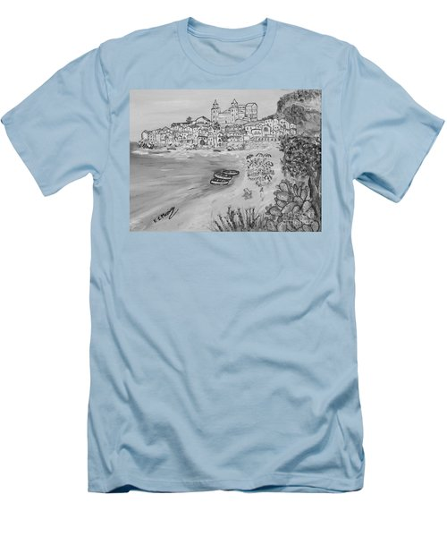 Men's T-Shirt (Slim Fit) featuring the painting Memorie D'estate by Loredana Messina