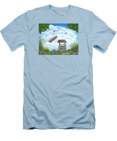 My Wishing Place Men's T-Shirt (Slim Fit) by Sheri Keith