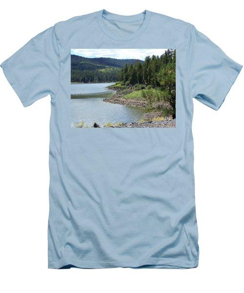 River Reservoir Men's T-Shirt (Slim Fit) by Pamela Walrath