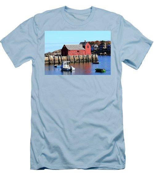 Rockport Motif Number 1 Men's T-Shirt (Slim Fit) by Lou Ford