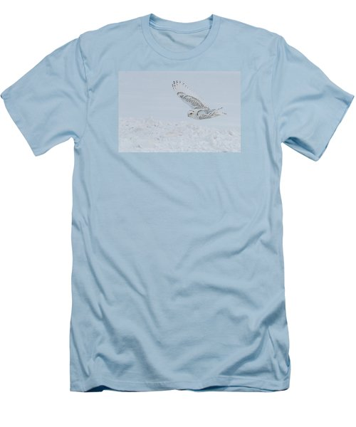 Men's T-Shirt (Slim Fit) featuring the photograph Snowy Owl #2/3 by Patti Deters