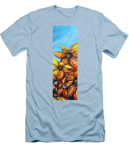 Men's T-Shirt (Slim Fit) featuring the painting Sunrise by Meaghan Troup