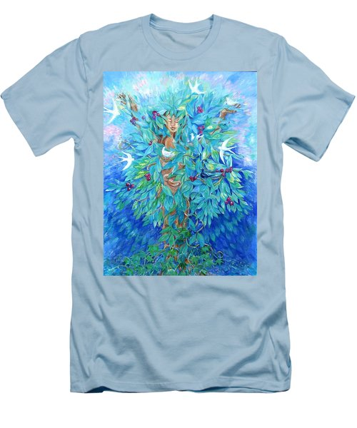 Tree Of Life  Men's T-Shirt (Slim Fit) by Trudi Doyle