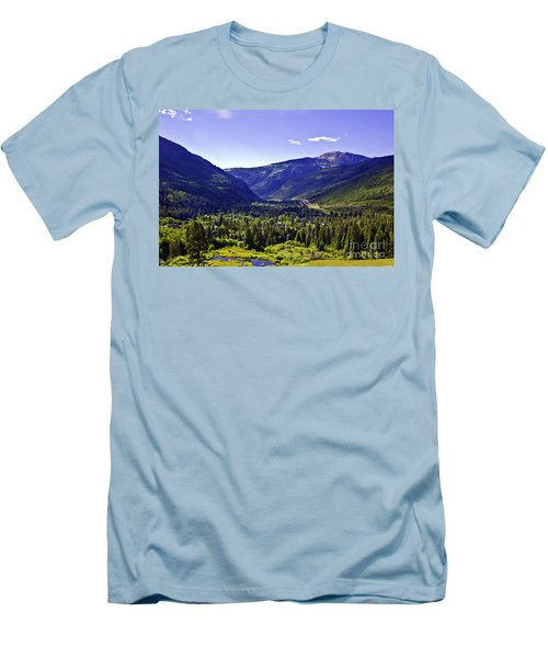 Vail Valley View Men's T-Shirt (Athletic Fit)