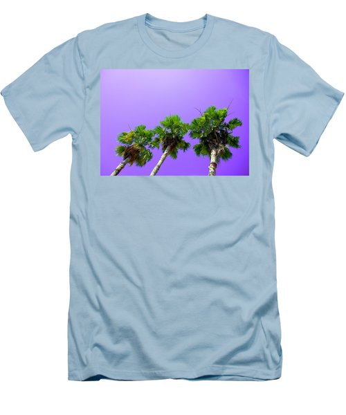 Men's T-Shirt (Slim Fit) featuring the photograph 3 Palms by J Anthony