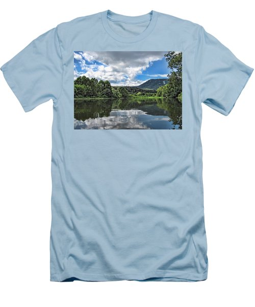 Men's T-Shirt (Slim Fit) featuring the photograph South Fork Shenandoah River by Lara Ellis