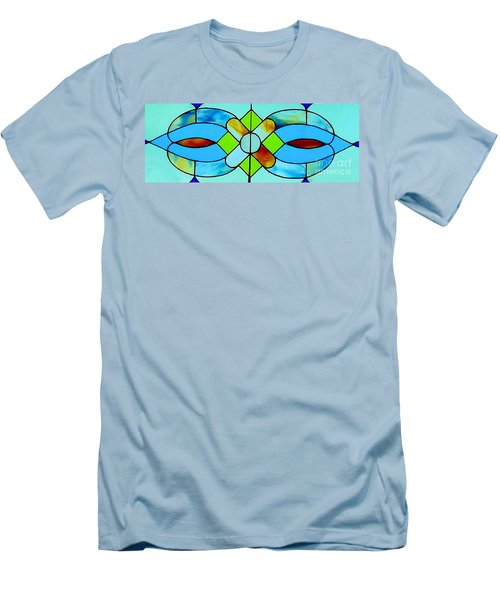 Men's T-Shirt (Slim Fit) featuring the photograph Stained Glass Window by Janette Boyd