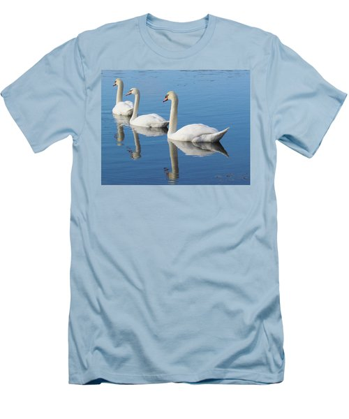 3 Swans A-swimming Men's T-Shirt (Athletic Fit)