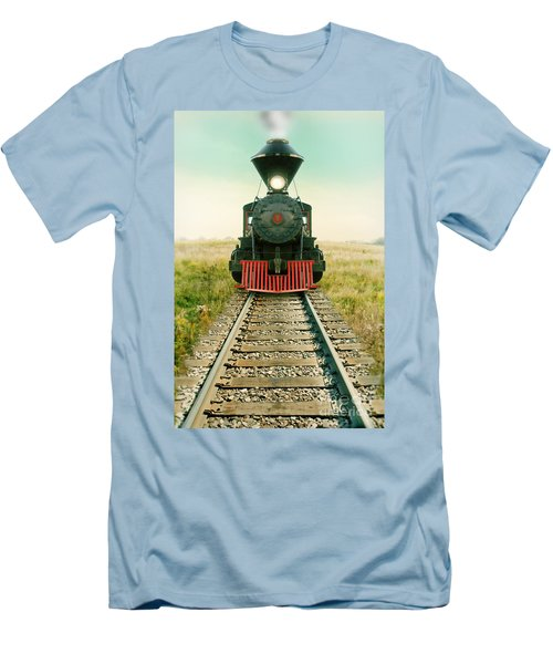 Vintage Train Engine Men's T-Shirt (Athletic Fit)