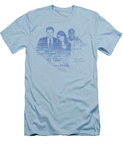 30 Rock - Words Men's T-Shirt (Athletic Fit)