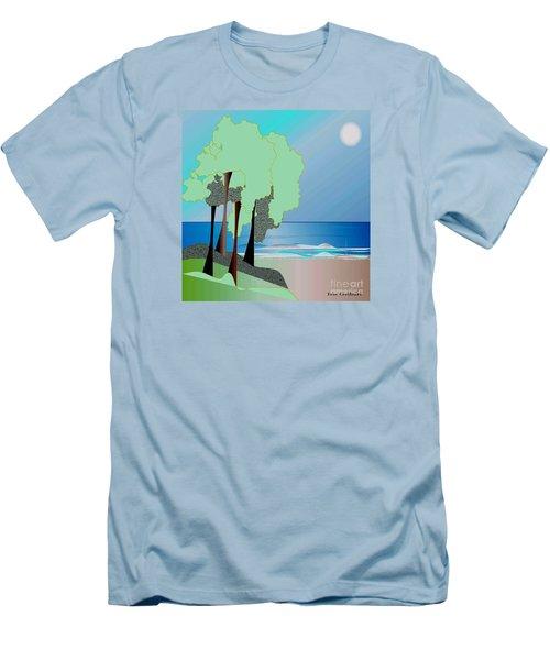 Men's T-Shirt (Slim Fit) featuring the digital art My Special Island by Iris Gelbart