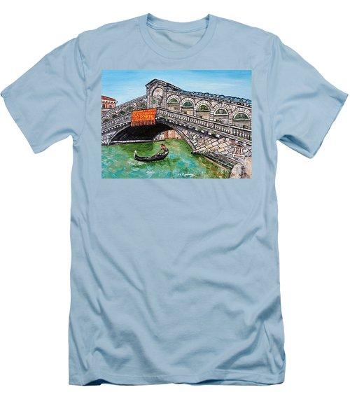 Ponte Di Rialto Men's T-Shirt (Slim Fit) by Loredana Messina