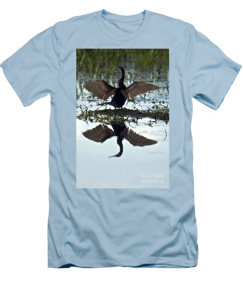 Anhinga Men's T-Shirt (Slim Fit) by Mark Newman