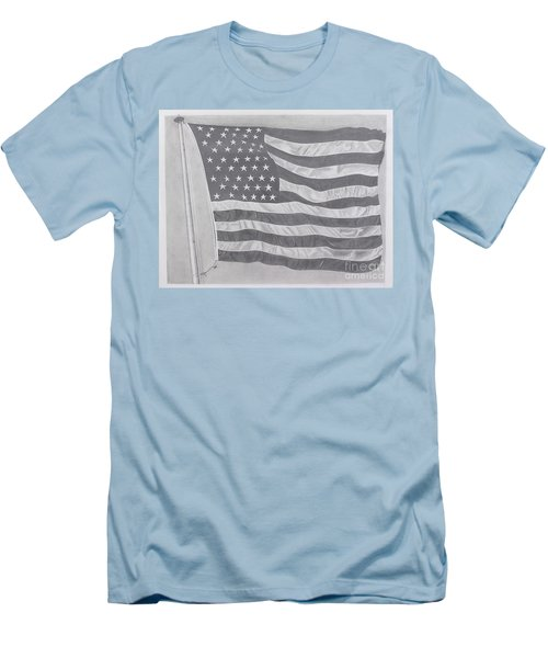 50 Stars 13 Stripes Men's T-Shirt (Slim Fit) by Wil Golden