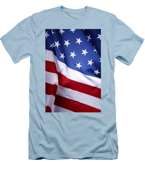 American Flag 50 Men's T-Shirt (Athletic Fit)