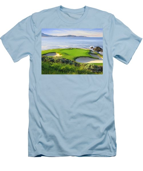 7th Hole At Pebble Beach Men's T-Shirt (Slim Fit)