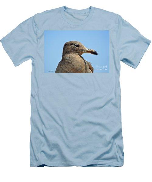 A Brown Gull In Profile Men's T-Shirt (Slim Fit) by Susan Wiedmann