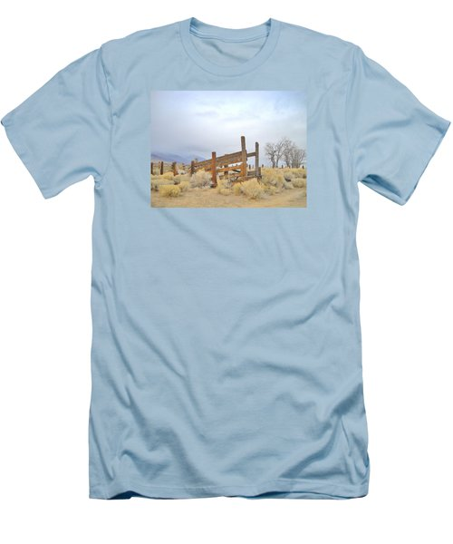 Men's T-Shirt (Slim Fit) featuring the photograph A Cowboys Echo by Marilyn Diaz