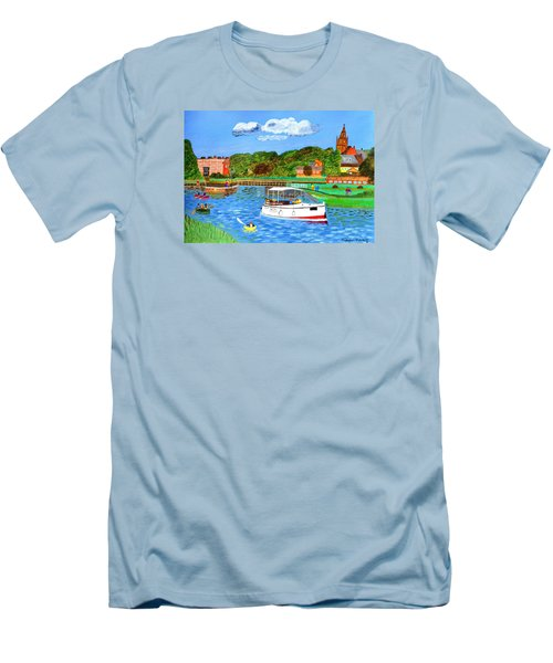 A Day On The River Men's T-Shirt (Athletic Fit)