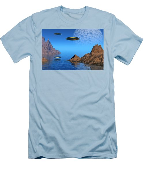 Men's T-Shirt (Slim Fit) featuring the digital art A Great Day For Flying by Lyle Hatch