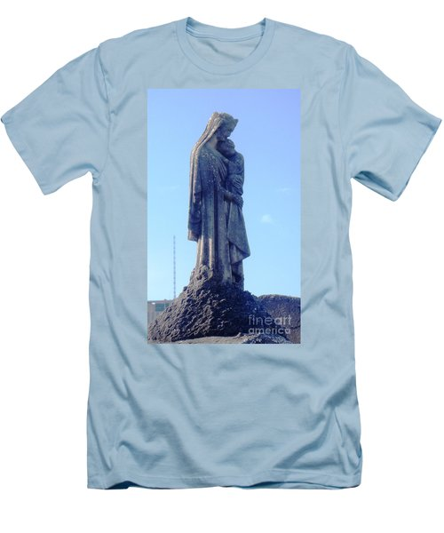 Men's T-Shirt (Slim Fit) featuring the photograph A Mother's Love by Alys Caviness-Gober