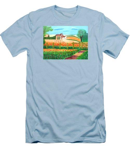 A Poppy Field Men's T-Shirt (Slim Fit) by Magdalena Frohnsdorff