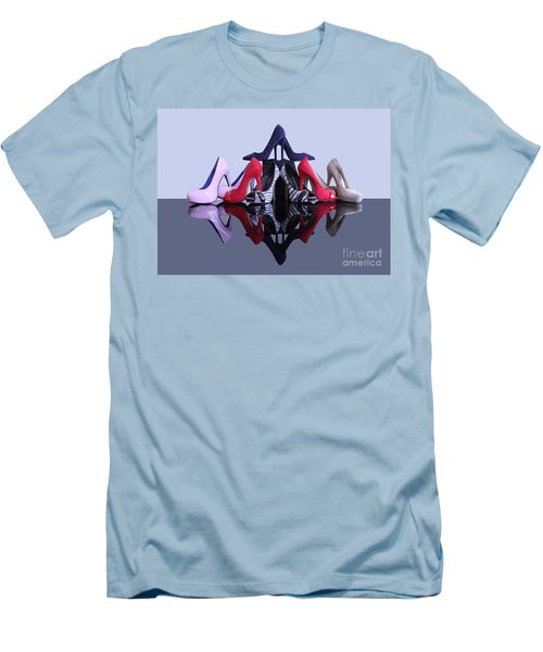 Men's T-Shirt (Slim Fit) featuring the photograph A Pyramid Of Shoes by Terri Waters