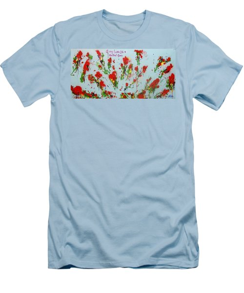 A Red Red Rose Men's T-Shirt (Athletic Fit)