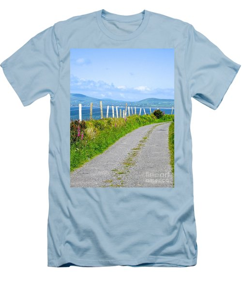 Men's T-Shirt (Slim Fit) featuring the photograph A Road To Waterville by Suzanne Oesterling