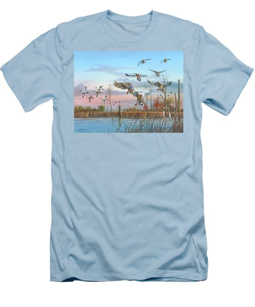A Safe Return Men's T-Shirt (Slim Fit) by Mike Brown