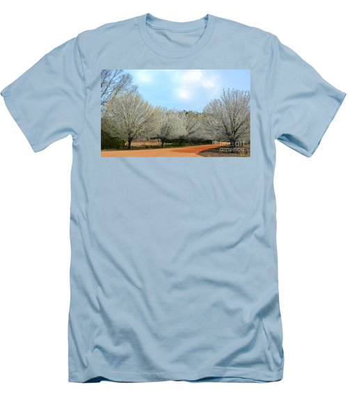 Men's T-Shirt (Slim Fit) featuring the photograph A Touch Of Spring by Kathy Baccari