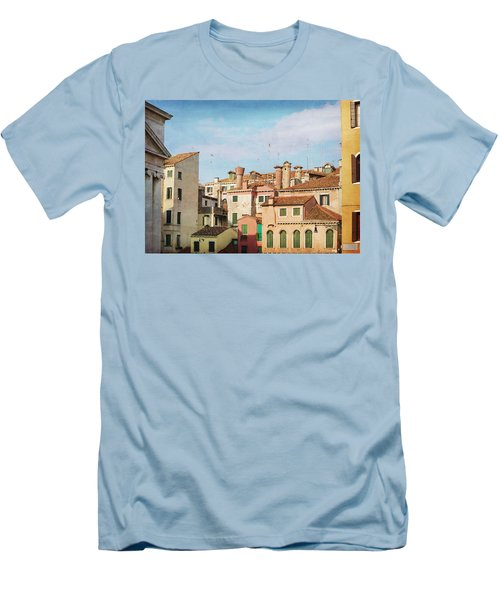 Men's T-Shirt (Slim Fit) featuring the photograph A Venetian View by Brooke T Ryan