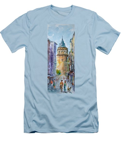 A Walk Around Galata Tower - Istanbul Men's T-Shirt (Athletic Fit)