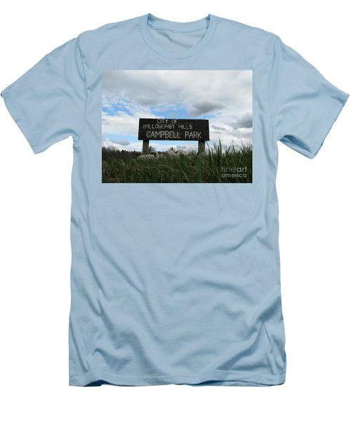 Men's T-Shirt (Slim Fit) featuring the photograph A Walk In The Park  by Michael Krek