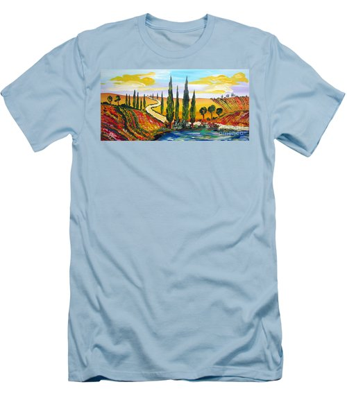 A Warm Day Under The Tuscan Sun Men's T-Shirt (Slim Fit) by Roberto Gagliardi