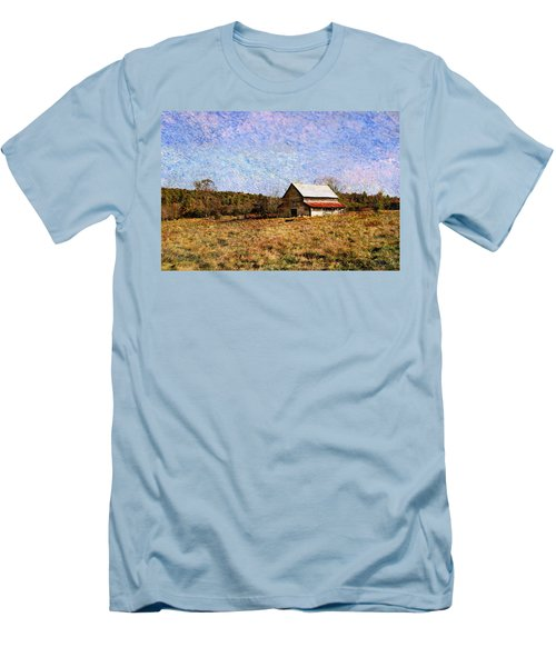 Men's T-Shirt (Slim Fit) featuring the photograph Abandoned Barn In North Georgia by Vizual Studio