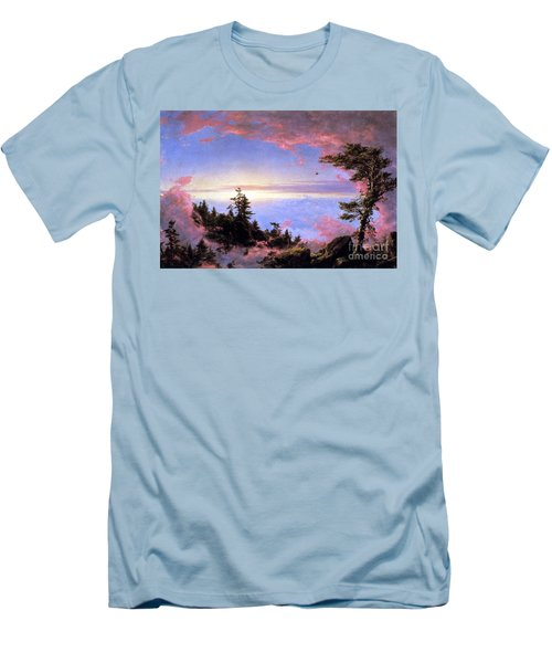 Above The Clouds At Sunrise By Frederick Edwin Church Men's T-Shirt (Athletic Fit)