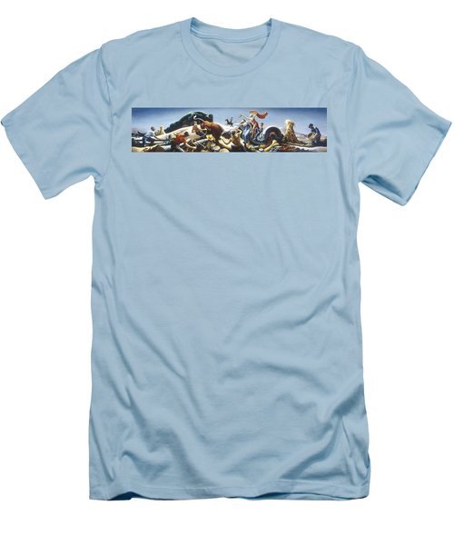 Achelous And Hercules Men's T-Shirt (Slim Fit) by Thomas Benton
