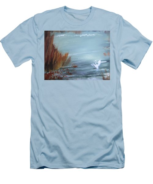 Men's T-Shirt (Slim Fit) featuring the painting Achieving Stillness  by Laurianna Taylor