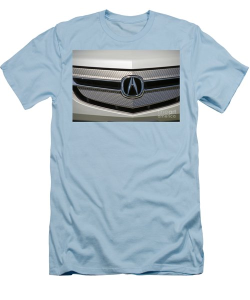 Acura Grill Emblem Close Up Men's T-Shirt (Slim Fit) by David Zanzinger